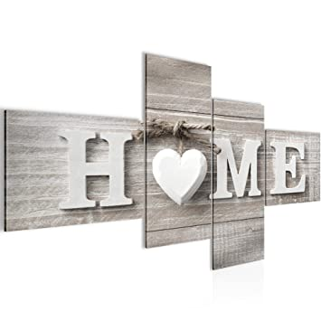 Runa Art Bilder Home Herz Wandbild 200 X 100 Cm Vlies Leinwand