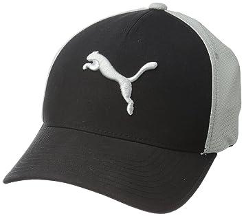 b2359da9 Puma Golf Men's Front 9 Flexfit Cap, Black/Quarry, Small/Medium ...