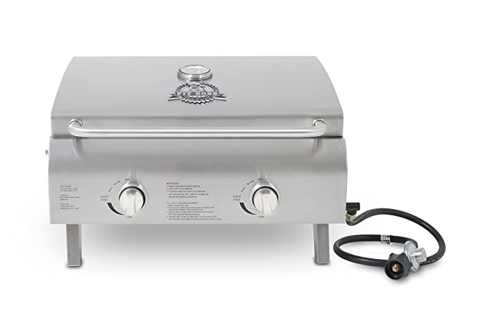 Pit Boss Grills Stainless Steel Portable Grill – The Tailgate Grill with a 304 Stainless Steel Grid Construction