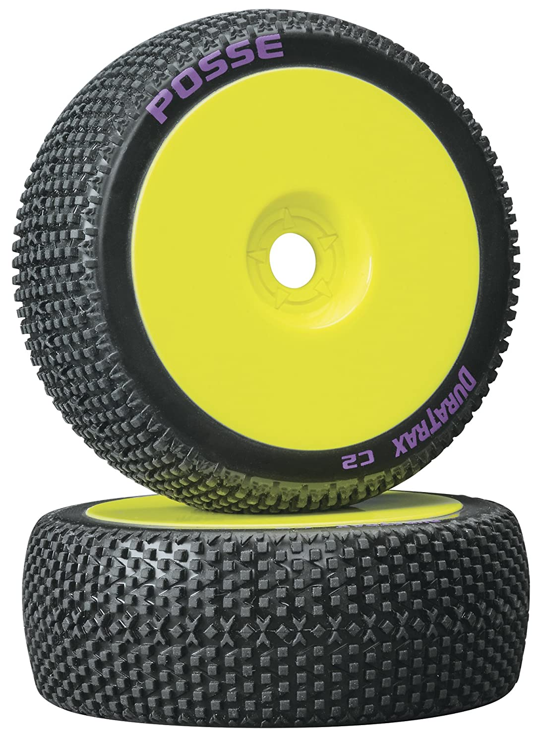 Duratrax Bandito 1:8 Scale RC Buggy Tires with Foam Inserts Set of 2 C3 Super Soft Compound Mounted on Black Wheels