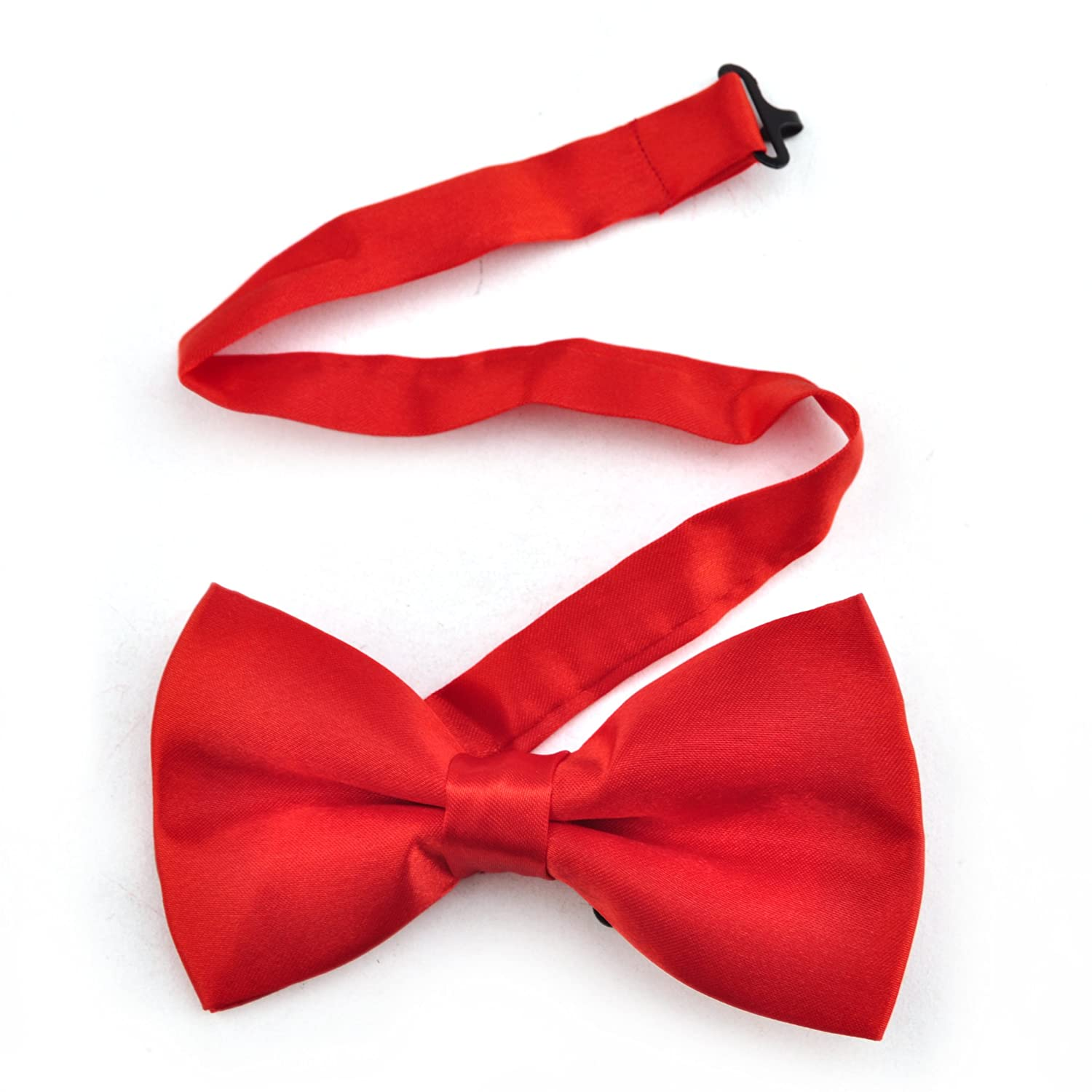 TopTie Mens Formal Solid Red Banded Bow Tie, Breast Cancer Awareness IBCH-HC09007