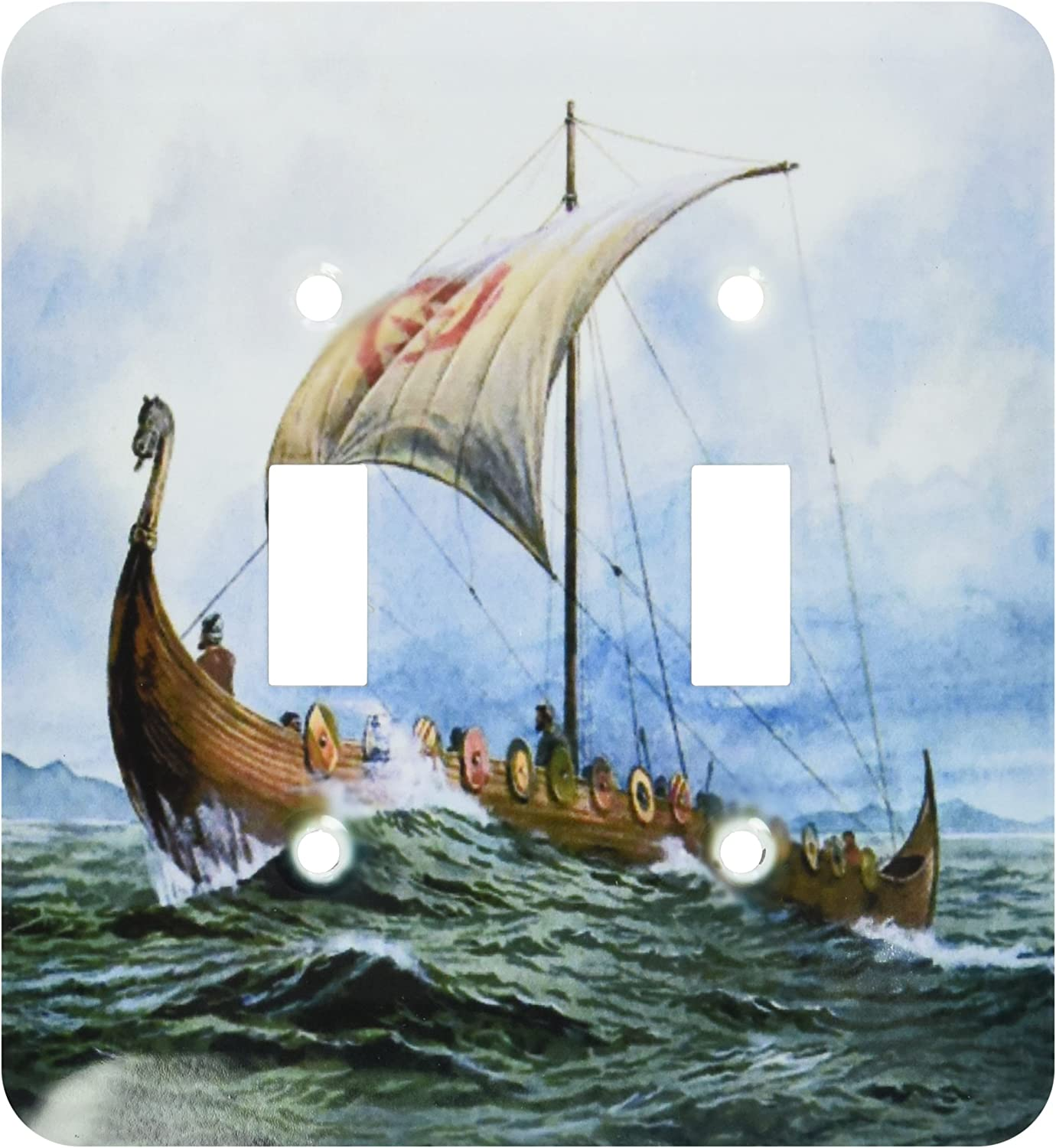 3drose Lsp 98640 2 Viking Ship Jpg Double Toggle Switch Multicolor Switch Plates Amazon Com