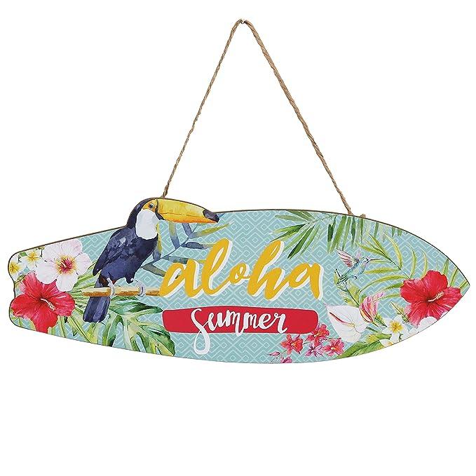 Woodpassion Aloha Summer hängeschild 30 x 10 cm Surf Cartel ...