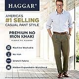 Haggar Men's Premium No Iron Classic Fit Expandable
