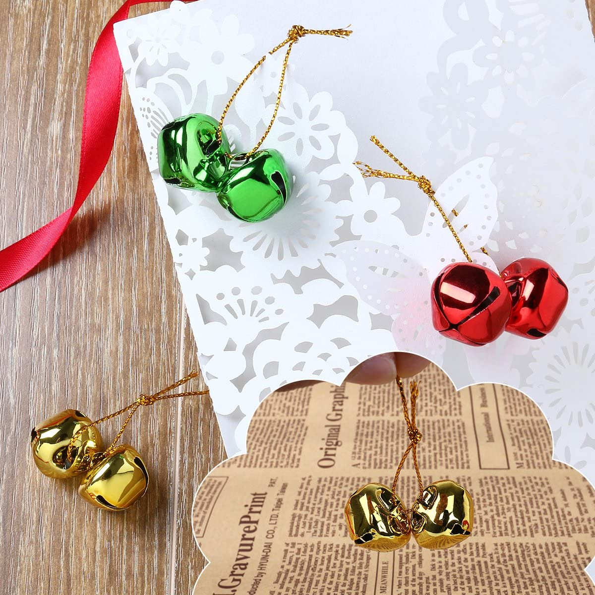 Christmas Jingle Bells, Crafts Small Christmas Bells Mini Jingle Bells for Christmas 150 PCS