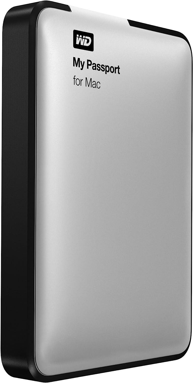 WD 1TB Silver My Passport for Mac Portable External Hard Drive - USB 3.0 - WDBLUZ0010BSL-NESN