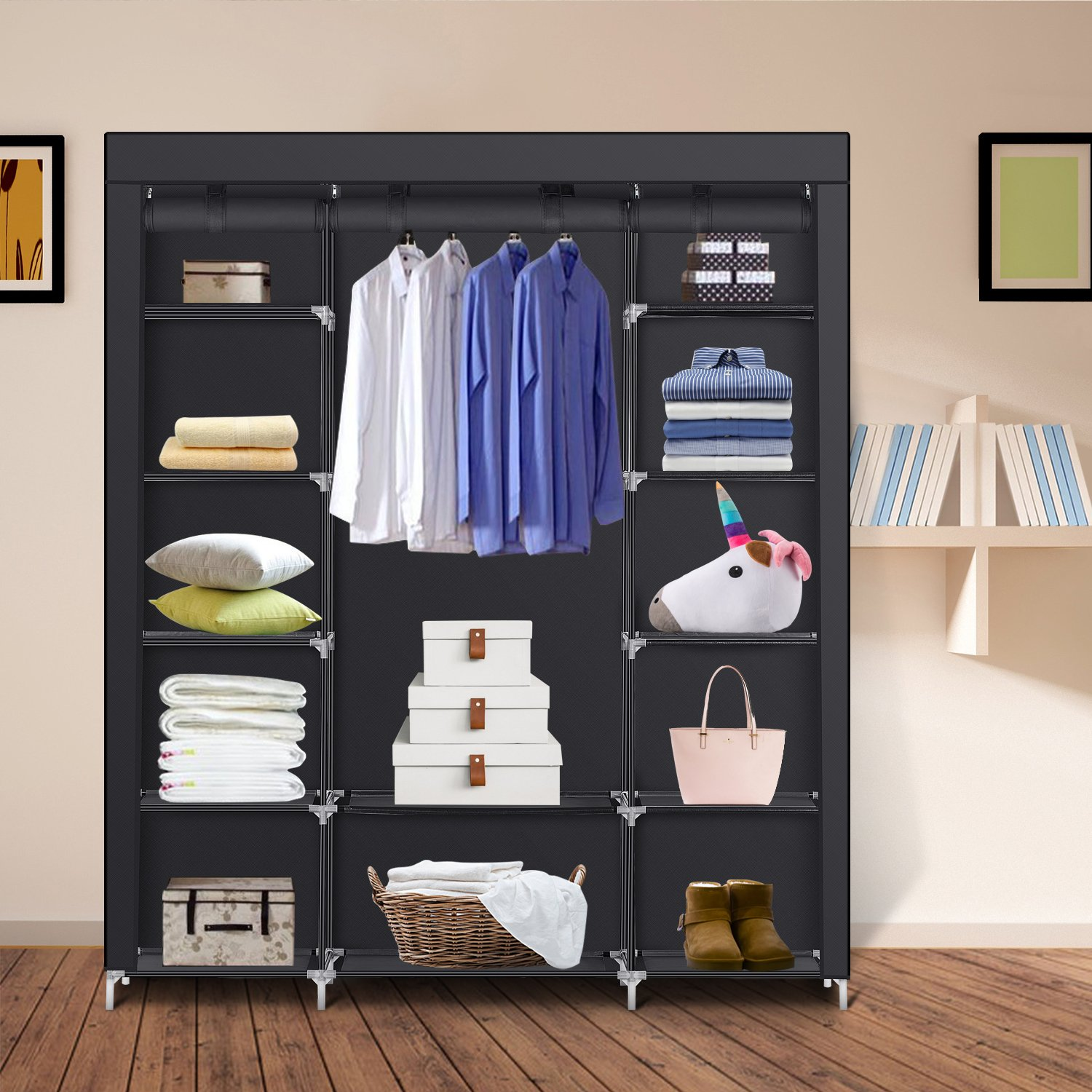 Portable Clothes Closet Extra Strong U0026 Durable Wardrobe Storage Xtra Space  NEW