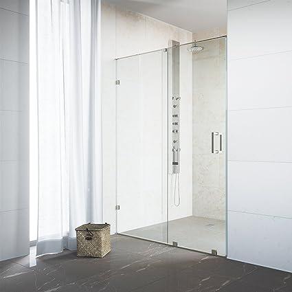 vigo ryland 62 to 64 in frameless sliding shower door with 375 in