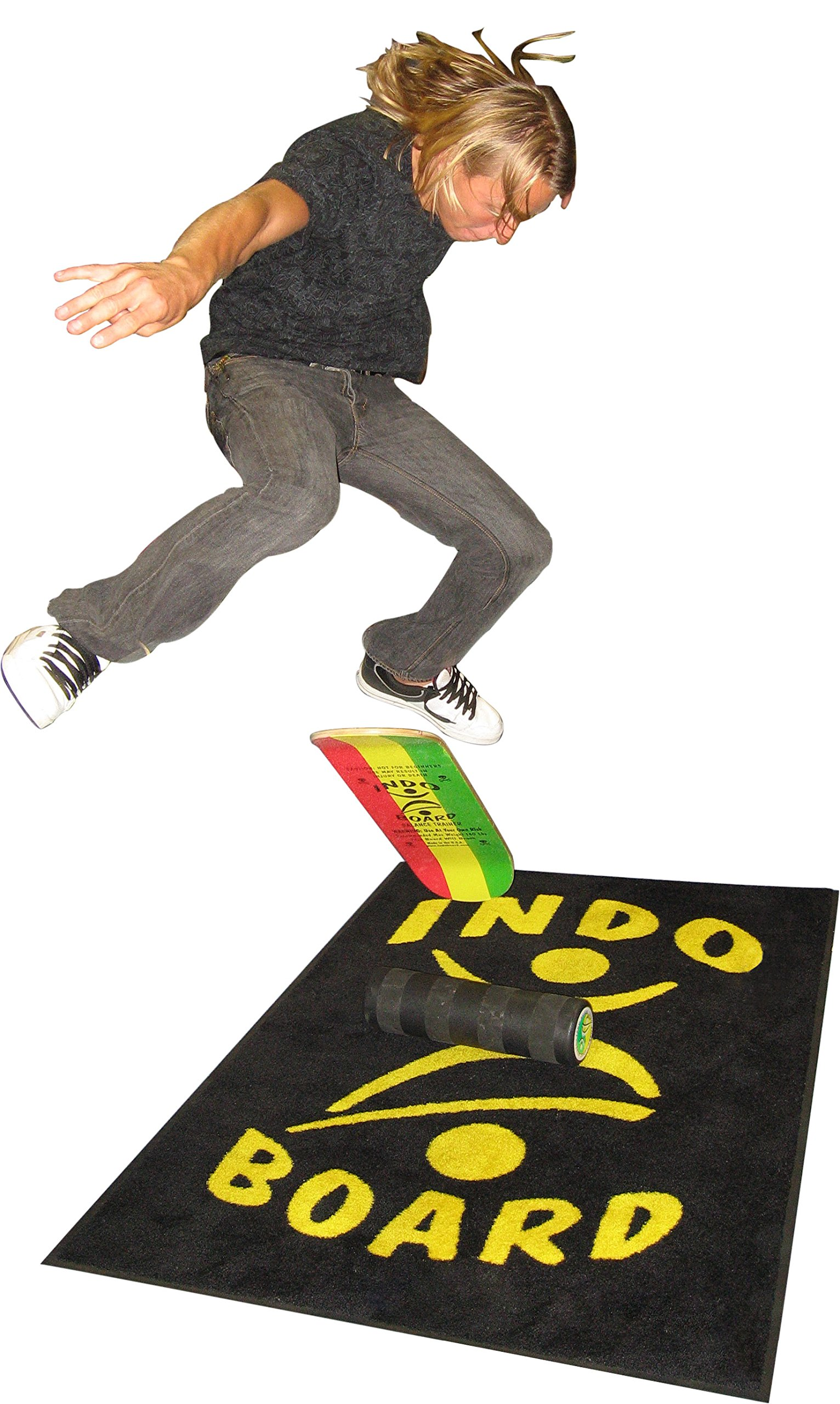 INDO BOARD Kicktail Pro Advanced Balance Board for Surfers, Skaters, Wakesurfers, Snowboarders - 39'' Long Deck with 6.5'' Roller by INDO BOARD (Image #4)