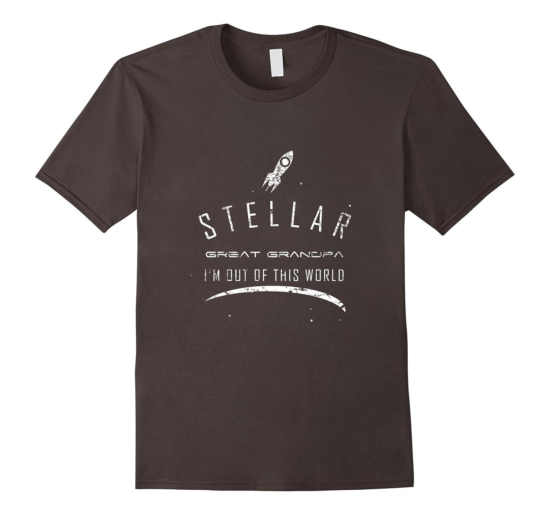 Mens Stellar Great Grandpa Shirt Cute Space Gift-Vaci