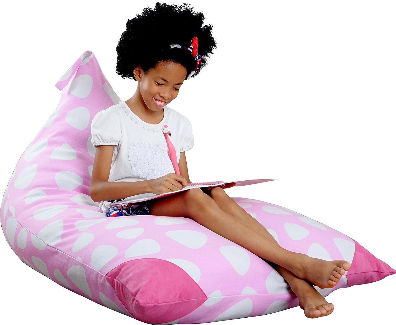XL Stuffed Animal Storage Bean Bag Chair By mylola | premium quality cotton canvas cover | kids soft toy organizer fits 200L | makes comfy lounger Mylola Creations