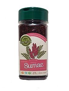 Eat Well Premium Food - Sumac Spice Powder 4 oz 113 g, Ground Sumac Berries, Turkish Sumac Seasoning, Middle Eastern Spices