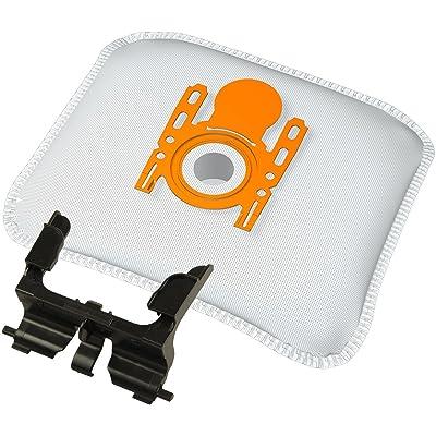 Support pour sac avec sacs d'aspirateur pour pour Bosch BSG6... Serie et Siemens VS06G... Serie Halter inkl. 10 Vlies-Filterbeutel
