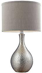 Dimond Lighting Hammered Chrome Table Lamp in Chrome Plating