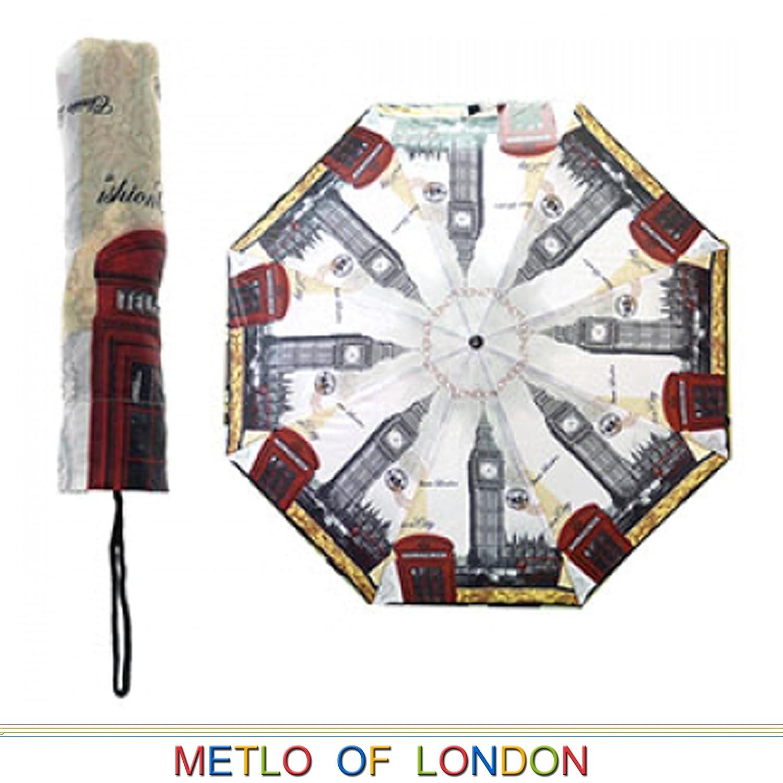 Iconos de Londres Big Ben y Rojo Cabina de teléfono Plegable Paraguas y Funda: Amazon.es: Hogar