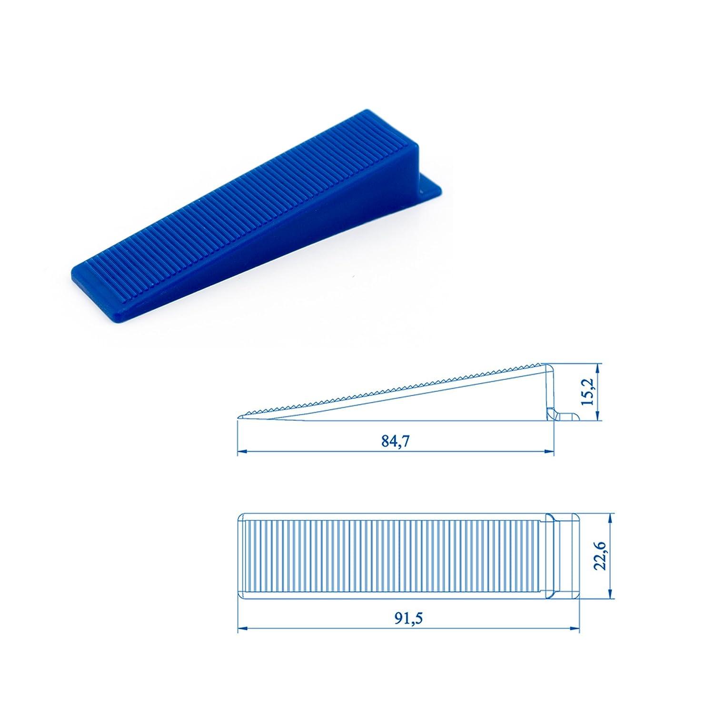 Wedge para la planta o de montaje en pared nivelaci/ón 500 pcs Lantelme karofit azulejos cu/ñas de nivelaci/ón para leng/üetas la ayuda por el que se sistema de punter/ía