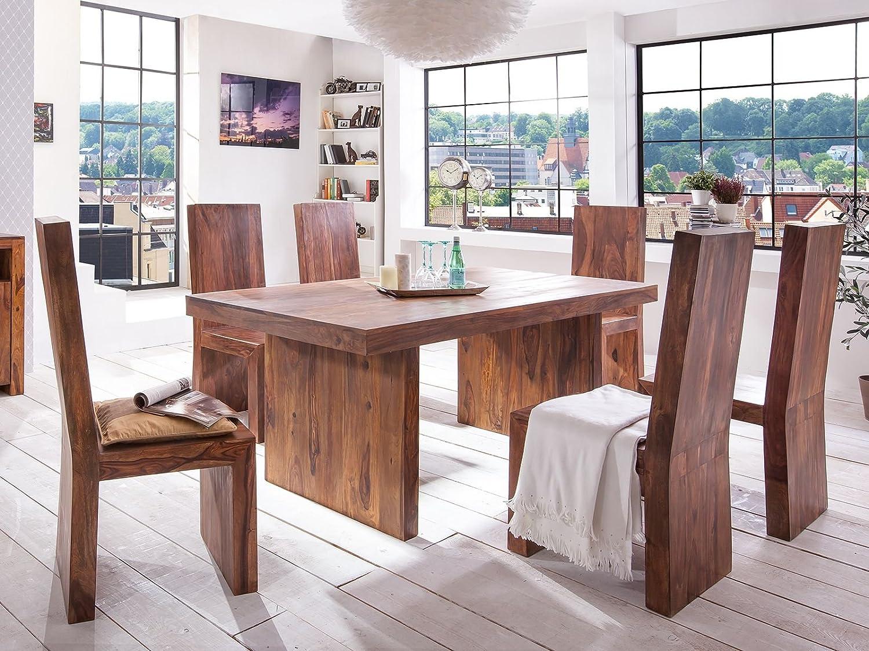 Massivum Country Esstisch mit 6 Stühlen, Holz, braun, 100 x 200 x 78 ...