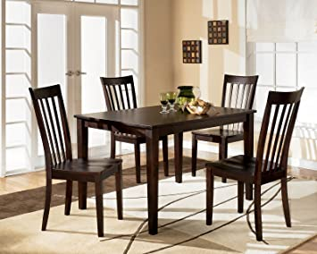 Amazon.com - Ashley Hyland D258-225 5-Piece Dining Room Set with ...