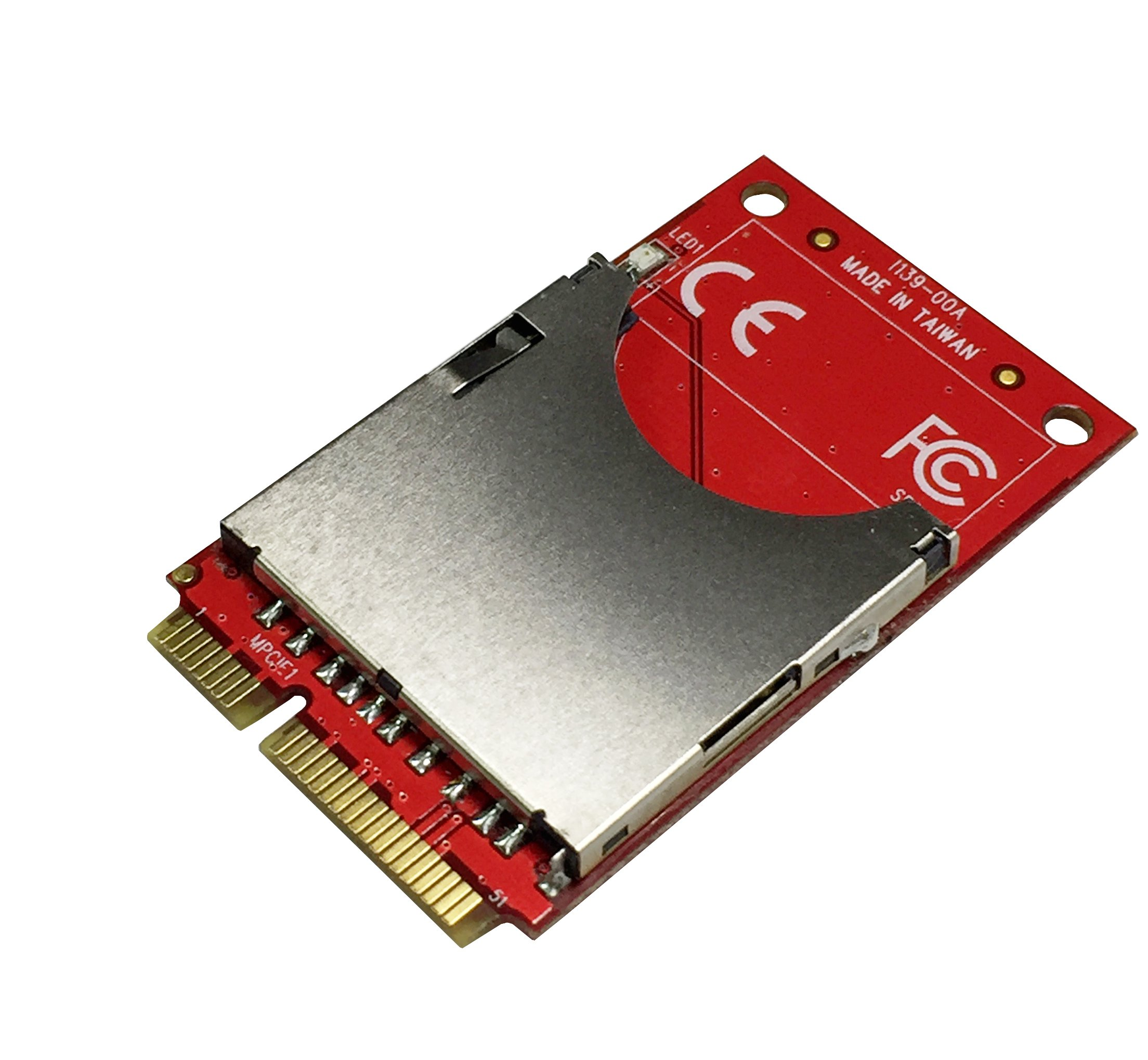Ableconn MPEX-139P Mini PCIe Adapter with SD Socket - Support SD 3.0 (SDXC) via Mini PCI Express by Ableconn
