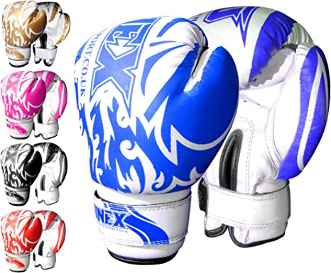 MMA Training Boxing Fight 6oz Gloves Muay Thai Punch Bag Mitts Sparring Punching