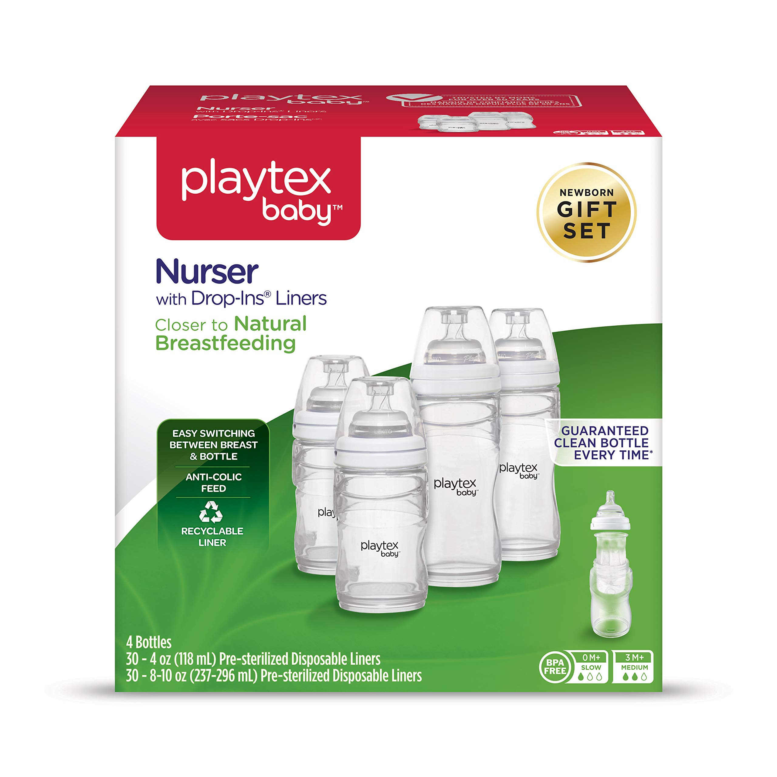Playtex Baby Nurser Gift Set, Includes Anti-Colic Feeding Essentials to Meet Your Baby's Growing Needs by Playtex
