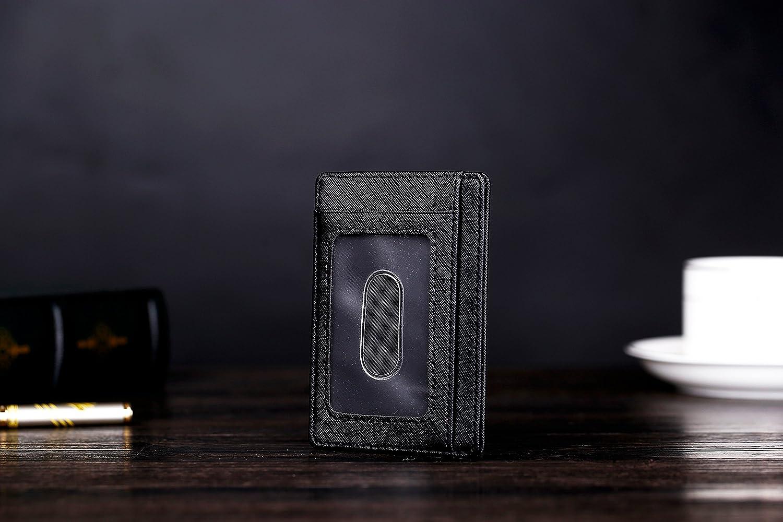 Kronya/® Portefeuille Porte-Monnaie Porte-Poche Titulaire de la Carte de Cr/édit Portefeuille /él/égant en Cuir avec Protection RFID Brun