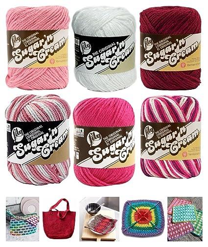 Amazon Variety Assortment Lily Sugarn Cream Yarn 100 Cotton