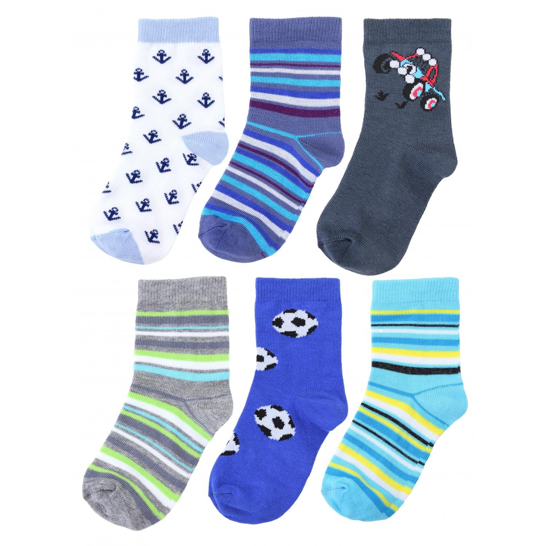 TupTam Baby Jungen Kinder Socken Bunt Gemustert 6er Pack