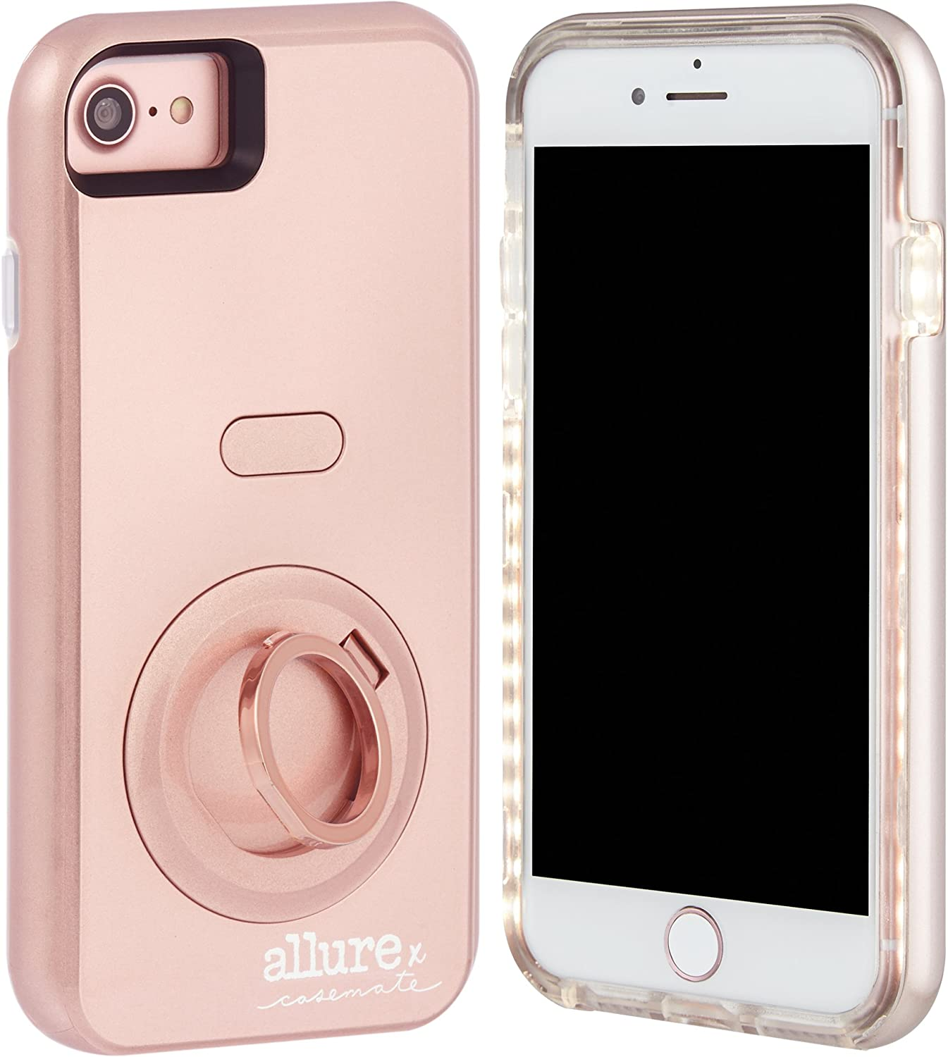 Case-Mate iPhone 7 Plus Case - Allure Selfie - LED Selfie Light Illuminated Cell Phone Case - Rose Gold (Compatible with iPhone 6/6S Plus )