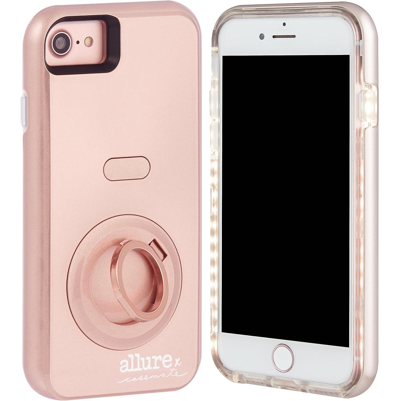 brand new 1f738 6f68b Amazon.com: Case-Mate iPhone 7 Case - Allure Selfie - LED Selfie ...