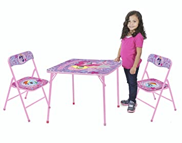 Amazon.com: My Little Pony Table and Chair Set (3-Piece): Toys & Games