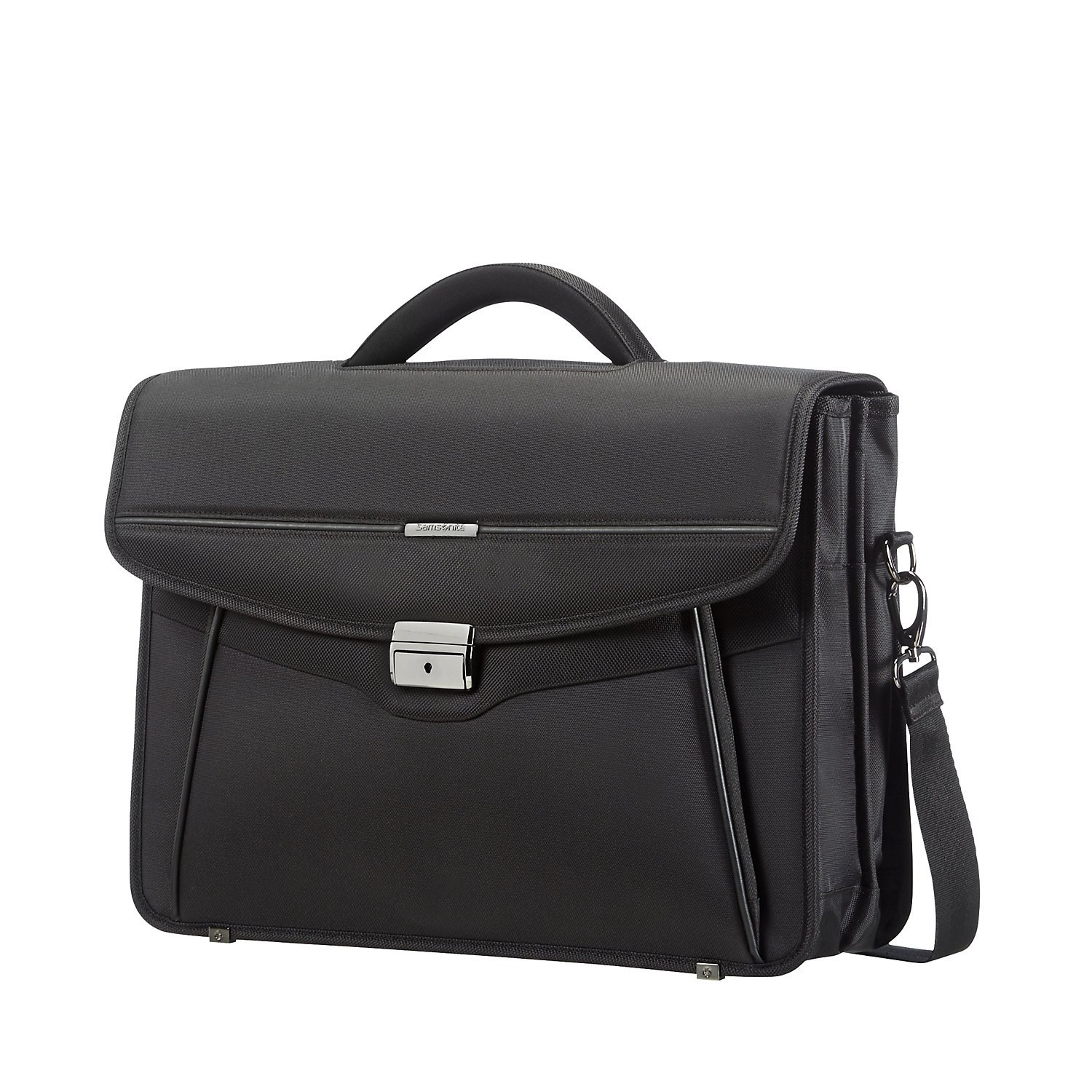 Samsonite Briefcase 2 Gussets 15.6 (Black) -Desklite  Aktentasche 67771-1041