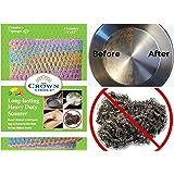 HEAVY DUTY Scouring Pad & Dish Scrubber (1Pk of 2) | For Dishwashing, Cast Iron, Pot Scrubbing | Replace Steel Sponges, Kitchen Sponge Scrubbers, Dish Cloths, Wash Cloths | Nylon Mesh & Odor Free