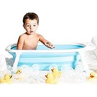 Babucco | Tina Plegable Para Bebe, Niños Pequeños y Recién Nacidos (Azul)