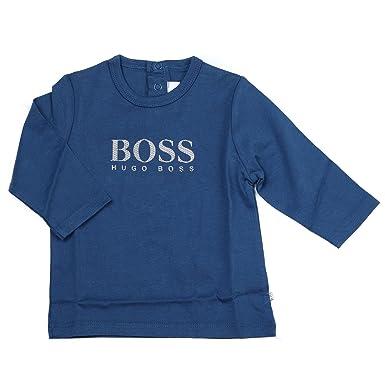 eee4e18c96950 Hugo Boss T-Shirt Bébé J05594 804 Dusty Blue - Taille 12 Mois - Couleur Bleu   Amazon.fr  Vêtements et accessoires