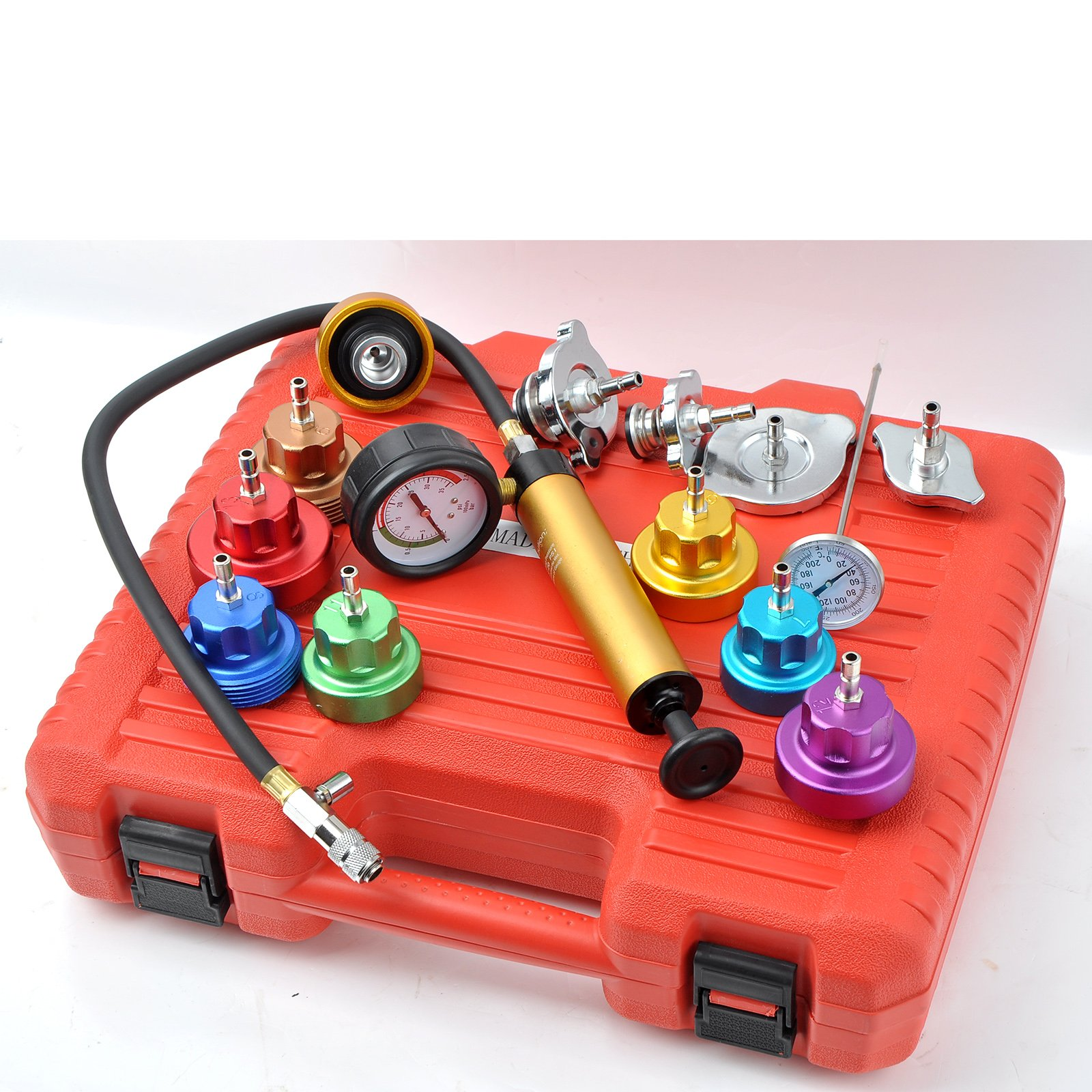 Generic Auto Cooling System Radiator Color Cap Pressure Tester Kit Pump Gauge Adapter HD by WIN.MAX (Image #6)