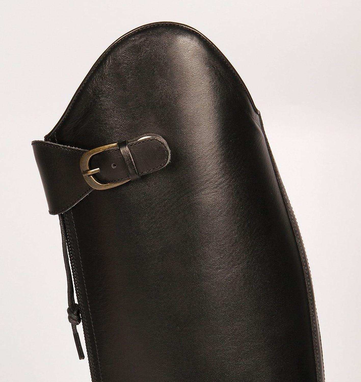 Harry's Polo Horse Damen Leder-Reitstiefel Polo Harry's Lederfutter schwarz Normale Weite bf995d