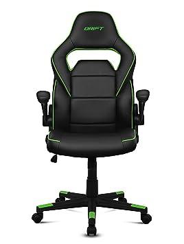 Drift DR75 - Silla de gaming de piel sintética , 66 x 53 x 115-123 cm, Negro y verde: Drift: Amazon.es: Informática
