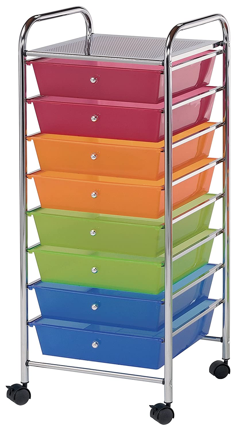 Attractive Amazon.com: Blue Hills Studio SC8MCDW 12 S Storage Cart 8 Drawer (Wide)  With 2 Shelf Multi Colored: Home U0026 Kitchen
