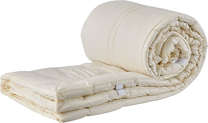 60 inches X 80 inches Organic Washable Reversible Woolmark /& Oeko-Tex Certified Australian Wool Deluxe Mattress Topper Mattress Cover Mattress Pad Queen