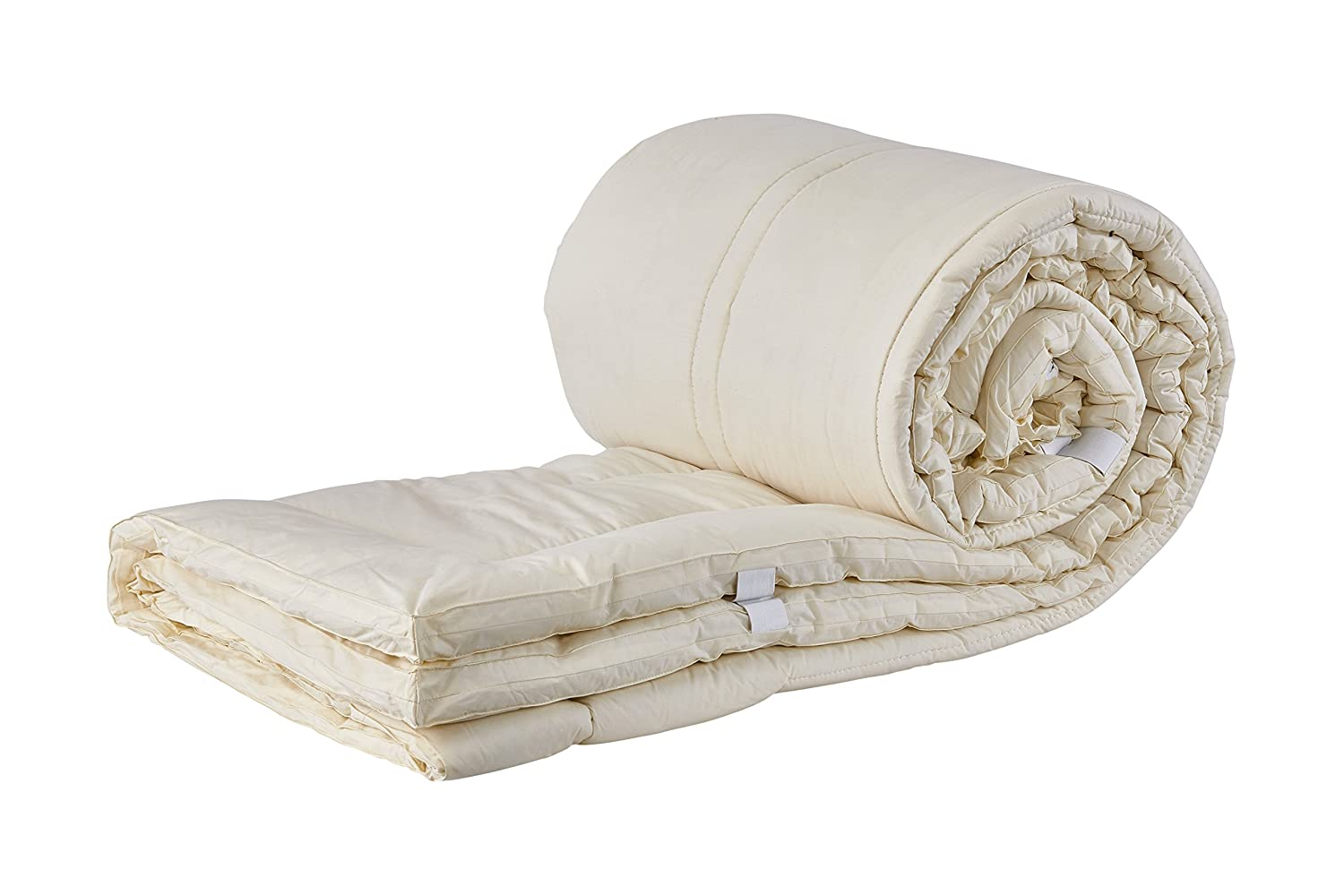 Sleep & Beyond 60 by 80-Inch Washable Wool Mattress Pad, Queen, Natural