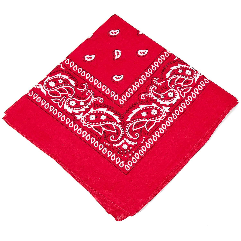 Unisex Paisley Bandana RED