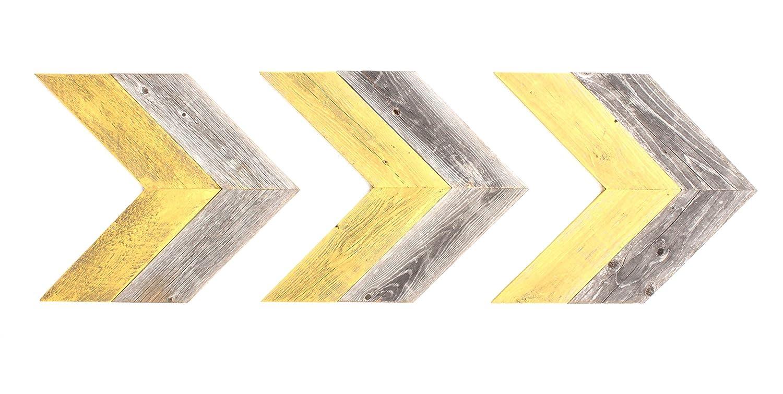Amazon.com: BarnwoodUSA Rustic Chevron Decorative Arrow Set of 3-100 ...