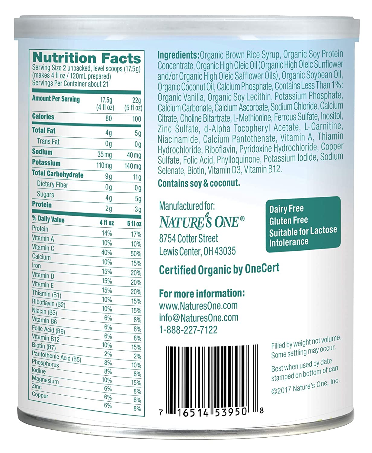 Babys Only Soy Organic Toddler Formula, 12.7-Ounce Canister (Package May Vary): Amazon.es: Bebé