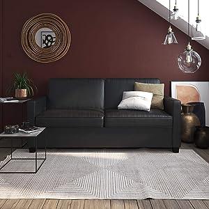 Signature Sleep Casey Faux Leather Sleeper Sofa
