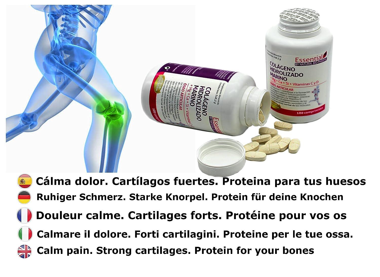 ... hidrolizado Magnesio Calcio Vitamina C y D. Colágeno marino hidrolizado con magnesio. Suplementos vitamínicos para tus huesos, dolor en articulaciones.