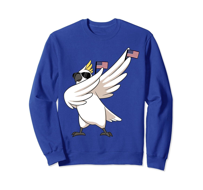 American Pride Cockatoo Parrot USA Dabbing Bird Sweatshirt-AZP
