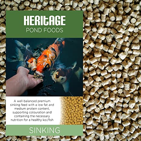 Heritage Premium Sinking Health Koi Fish Food Pellets Pond Feed Goldfish 1kg Sinking Food Amazon Co Uk Garden Outdoors