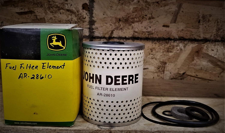 John Deere Fuel Filter Element Part No Ar28610 Wix Filters 33143 Home Improvement