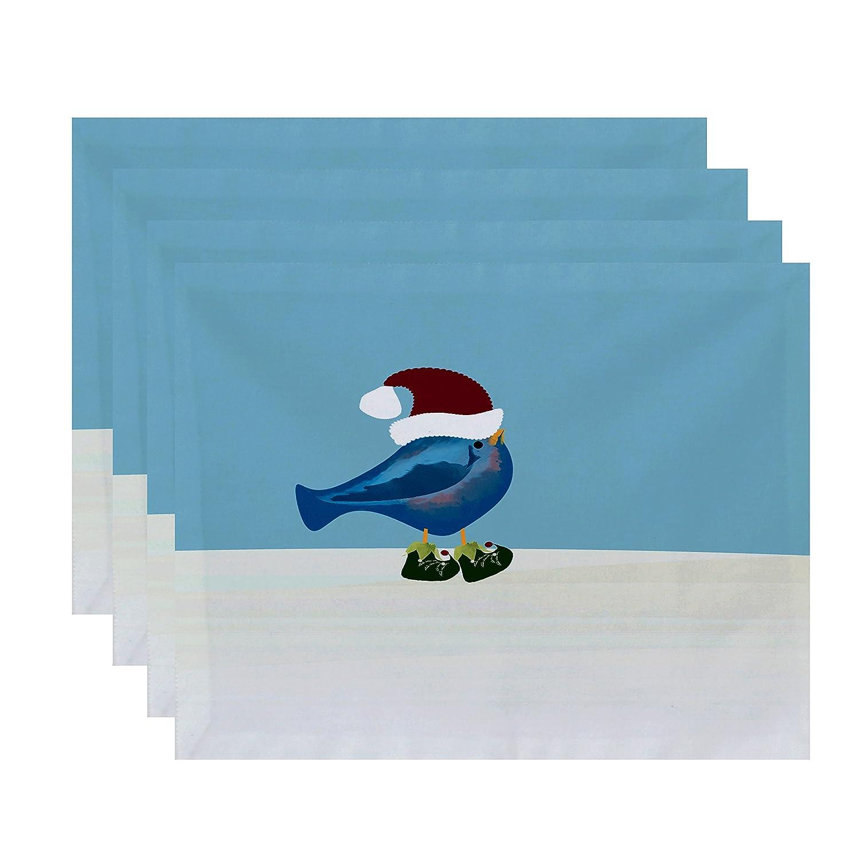 【お気に入り】 E PT4HAN685BL1YE3 by design Jump 1 For B01N3RKY5Q Joy Merryクリスマス鳥動物印刷プレースマット – 4のセット 1 ゴールド PT4HAN685BL1YE3 B01N3RKY5Q ティール 1 1|ティール, 本川根町:b81bdc02 --- martinemoeykens.com